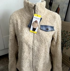 NWT Pendleton Sherpa Heather Beige Jacket Size S